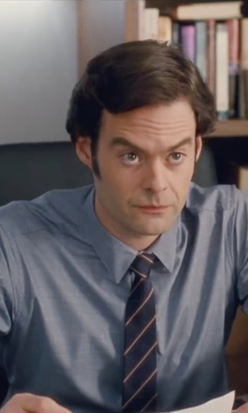 Bill Hader with Ermenegildo Zegna Textured Oxford Dress Shirt in Trainwreck
