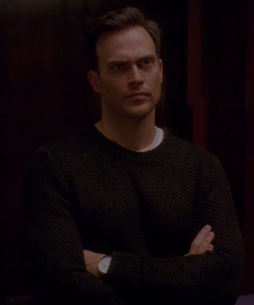 Cheyenne Jackson with YMC Net Knit Sweater in American Horror Story
