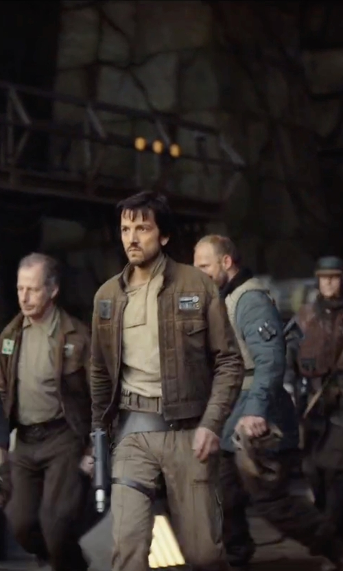Diego Luna with Boston Harbour Vintage Men's Utility Jacket in Rogue One: A Star Wars Story
