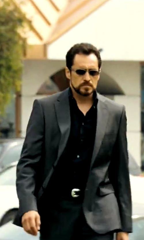 Demian Bichir with Emporio Armani Classic Jacket And Trouser Suit in Savages
