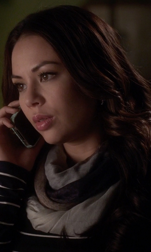 Janel Parrish with Emu Ombre Wool Scarf in Pretty Little Liars