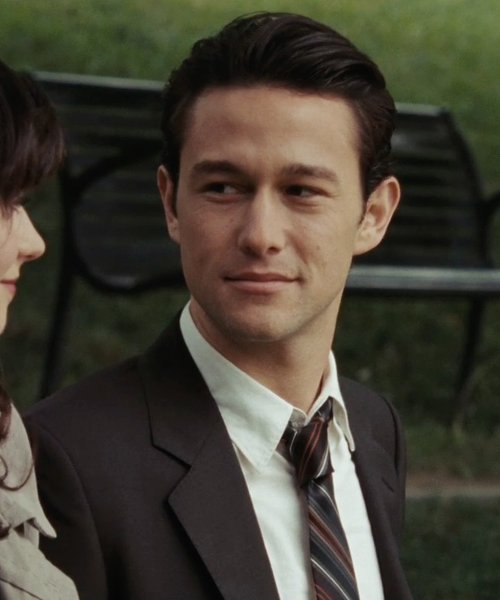 Joseph Gordon-Levitt with Tommy Hilfiger Men's Lapel Nathan Suit in (500) Days of Summer