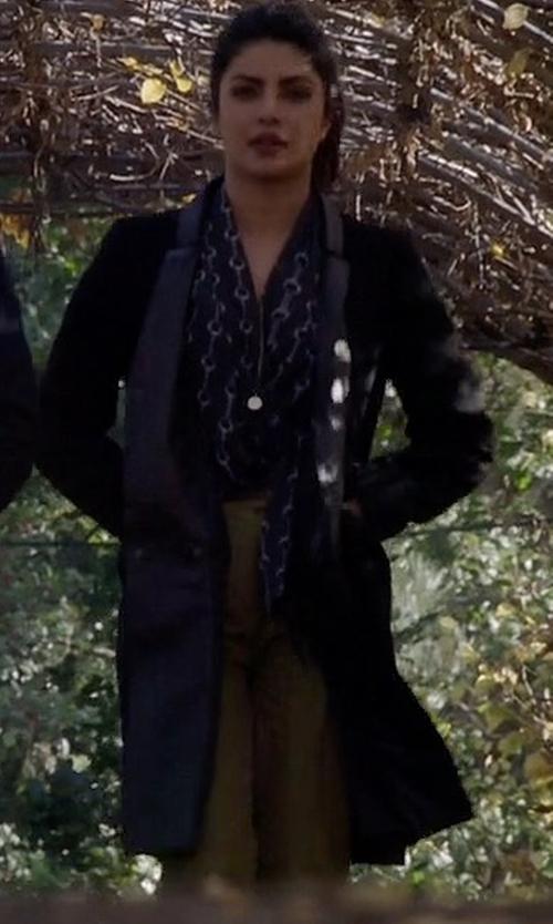 Priyanka Chopra with Publish Vivien Trench Coat in Quantico