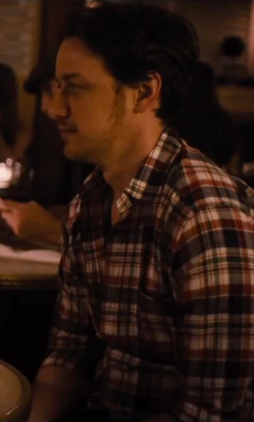 James McAvoy with Rag & Bone Beach Shirt in The Disappearance of Eleanor Rigby