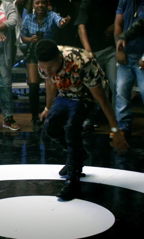 Bryshere Y. Gray with Giacomorelli Leather High Top Sneakers in Empire
