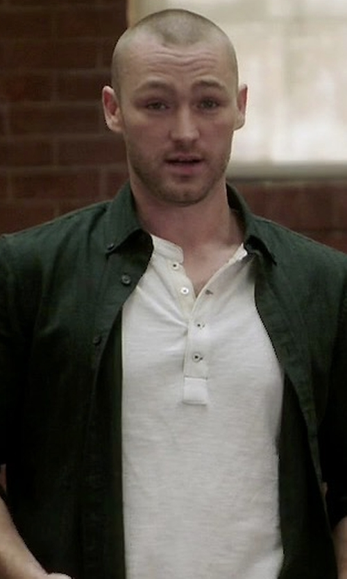 Jake McLaughlin with Robert Graham Textured Cotton Shirt in Quantico