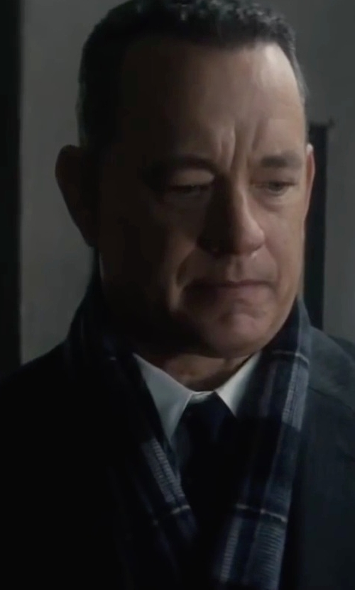 Tom Hanks with Burberry Giant Icon Cashmere Scarf in Bridge of Spies