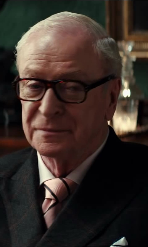 Michael Caine with Drake's Silk Pocket Square in Kingsman: The Secret Service