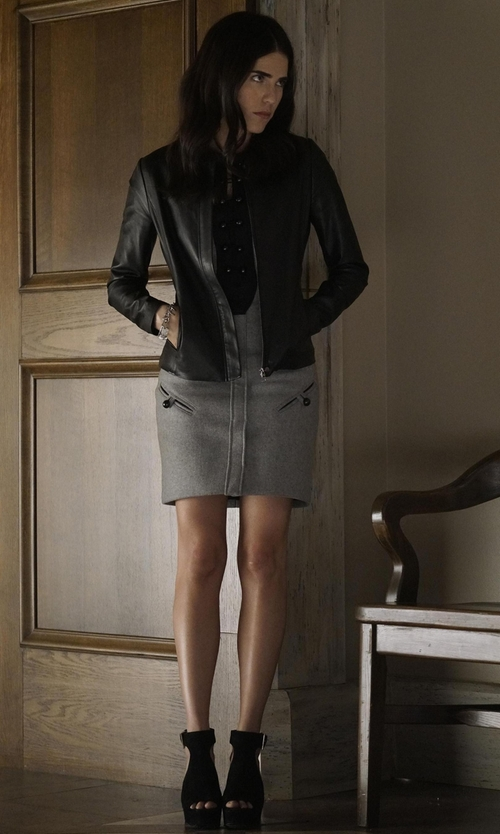 Karla Souza with Stuart Weitzman 'Slits' Sandals in How To Get Away With Murder