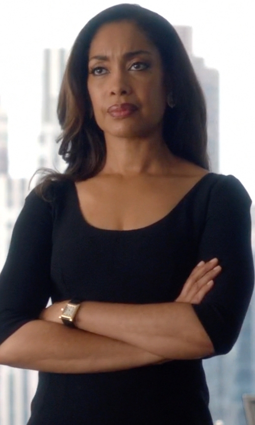 Gina Torres with Cartier Tank Solo Watch in Suits