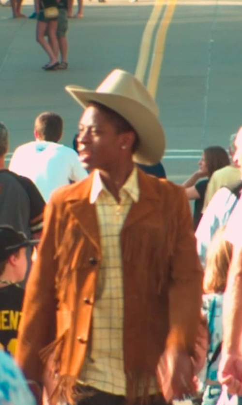 RJ Cyler with Justin Men's 3X Rodeo Hat in Me and Earl and the Dying Girl