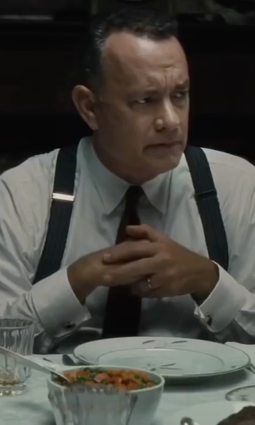 Tom Hanks with Paul Stuart Two-Ply Cotton Shirt in Bridge of Spies