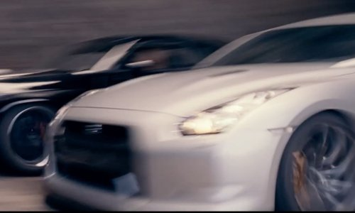 Paul Walker with Nissan 2011 GT-R Coupe in Fast & Furious 6