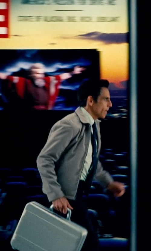 Ben Stiller with Zero Halliburton Premier Aluminum Attache Case in The Secret Life of Walter Mitty