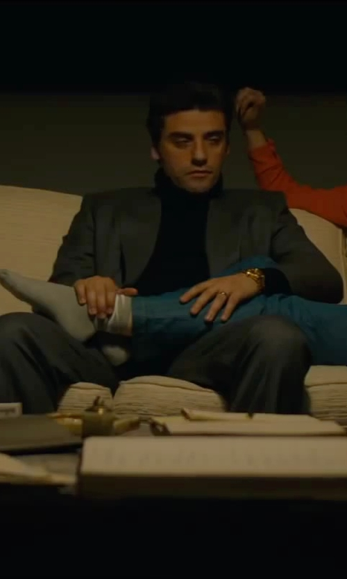 Oscar Isaac with Banana Republic Monogram Charcoal Suit in A Most Violent Year