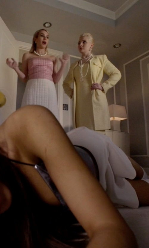 Ariana Grande with Supertrash SUDO Mini Skirt in Scream Queens
