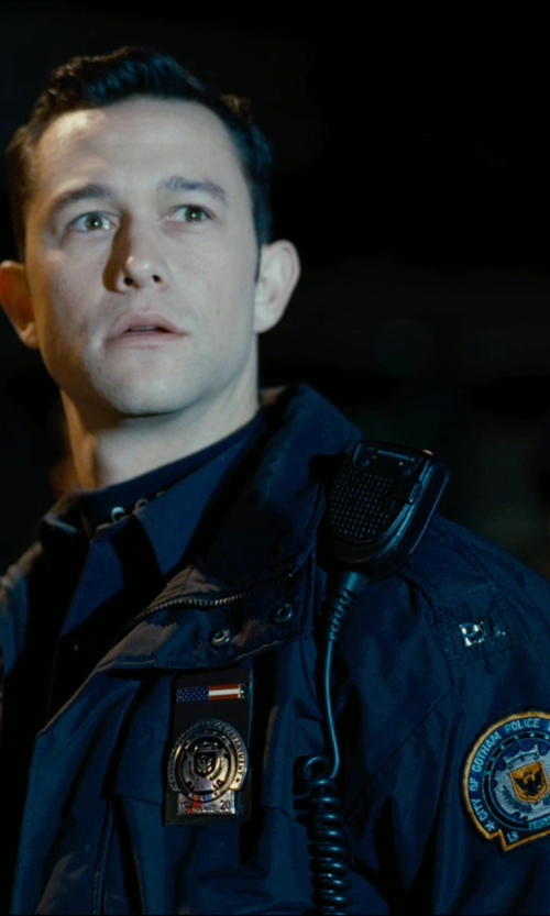 Joseph Gordon-Levitt with Motorola 53724 Remote Speaker Microphone in The Dark Knight Rises