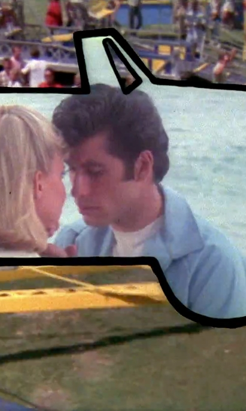 John Travolta with Port Cotton Short Sleeve T-Shirt in Grease