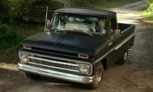 Luke Bracey with Chevrolet 1964 C10 Pickup Truck in The Best of Me