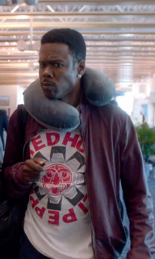 Chris Rock with Red Hot Chili Peppers Vintage T-Shirt in Top Five