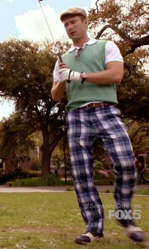 Glen Powell with Raymond Weil Automatic Stainless Steel Dial Watch in Scream Queens