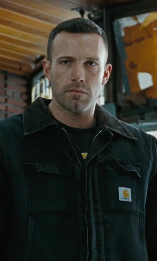 Ben Affleck with Carhartt Men's Duck Traditional Coat/Arctic Quilt-Lined in The Town