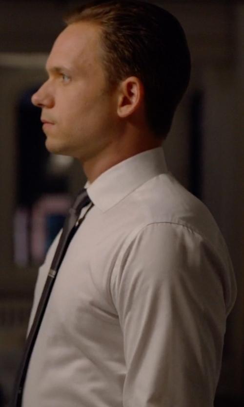 Patrick J. Adams with Eton Slim Fit Dress Shirt in Suits