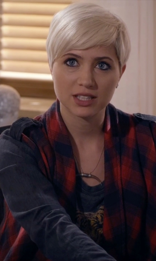 Dre Davis with Jack by BB Dakota Women's Kiya Plaid Cardigan in Pretty Little Liars