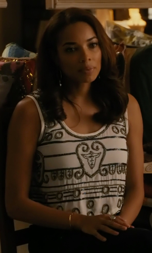 Rochelle Aytes with Raga Moonbeam Crop Top in Mistresses