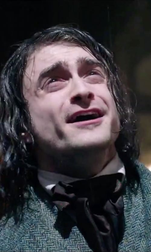 Daniel Radcliffe with Jaan J. Black Non Silk Ascot Tie in Victor Frankenstein