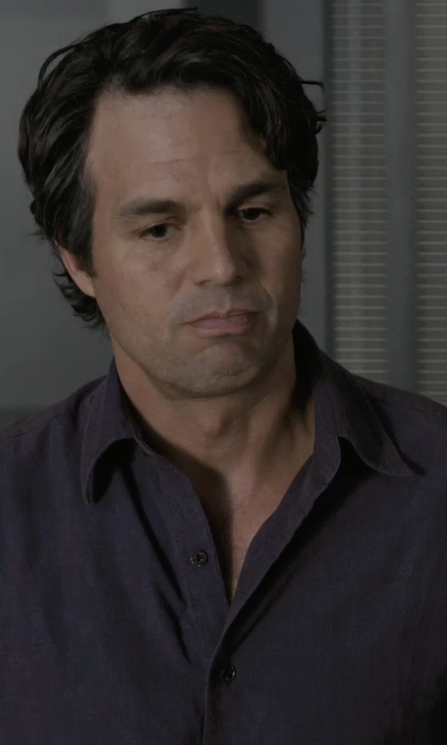 Mark Ruffalo with BOSS 'T-Christo' Italian Stretch Cotton Blend Dress Shirt in Marvel's The Avengers
