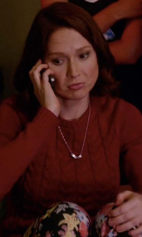 Ellie Kemper with Land's End Petite Drifter Cable Sweater in Unbreakable Kimmy Schmidt