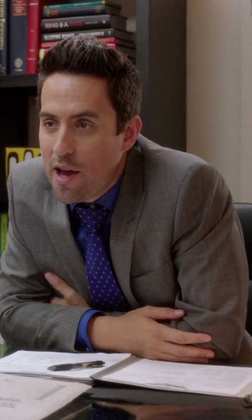 Ed Weeks with Dsquared2 Tokyo Wool Gabardine Suit in The Mindy Project