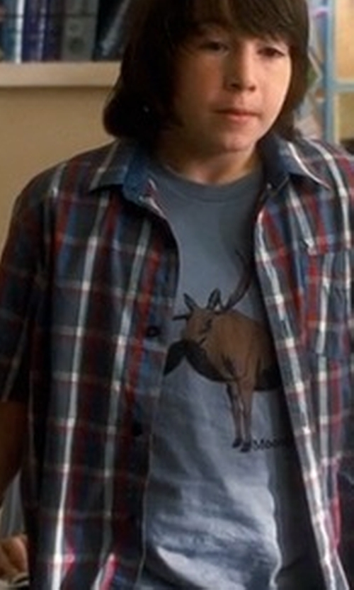 Jonah Bobo with Go All Out Screenprinting Got Moose T-Shirt in Crazy, Stupid, Love.
