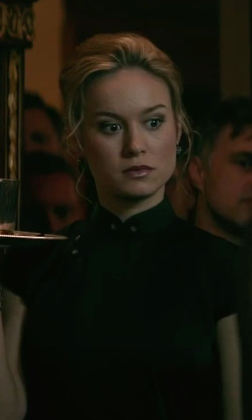 Brie Larson with Forever Flawless Jewelry Sterling Diamond Dangle Post Earrings in The Gambler