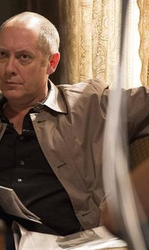 James Spader with Crombie Short Rain Topper Jacket in The Blacklist