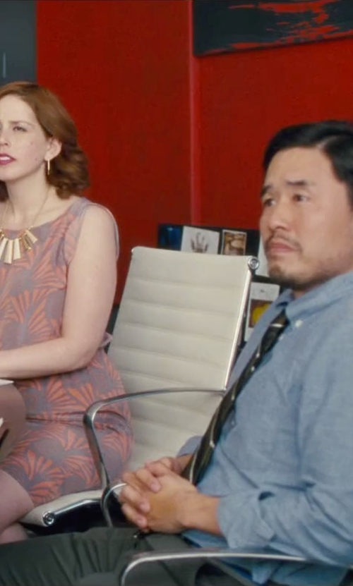 Randall Park with Bonobos 'Weekday Warrior' Tailored Cotton Chino Pants in Trainwreck