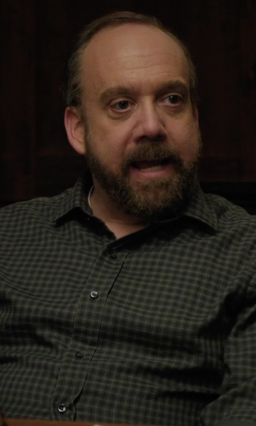 Paul Giamatti with Polo Ralph Lauren Slim-Fit Checked Estate Shirt in Billions