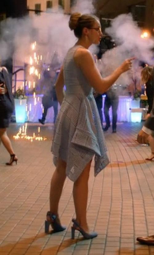Melissa Benoist with Banana Republic Cadi Slingback Heel Pumps in Supergirl