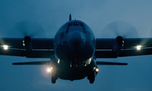 Unknown Actor with Lockheed C-130 Hercules Airplane in Fast Five