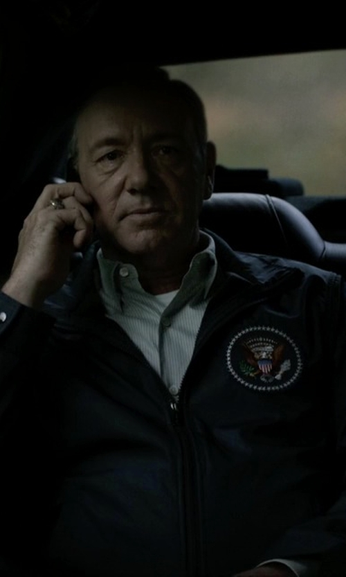 Kevin Spacey with Polo Ralph Lauren Basic Windbreaker Jacket in House of Cards