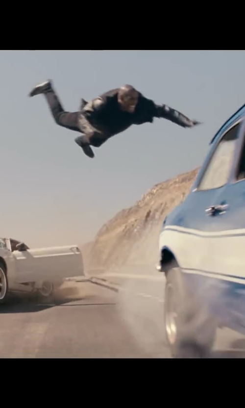 Tyrese Gibson with Santorelli Flat Front Travel Trousers in Fast & Furious 6