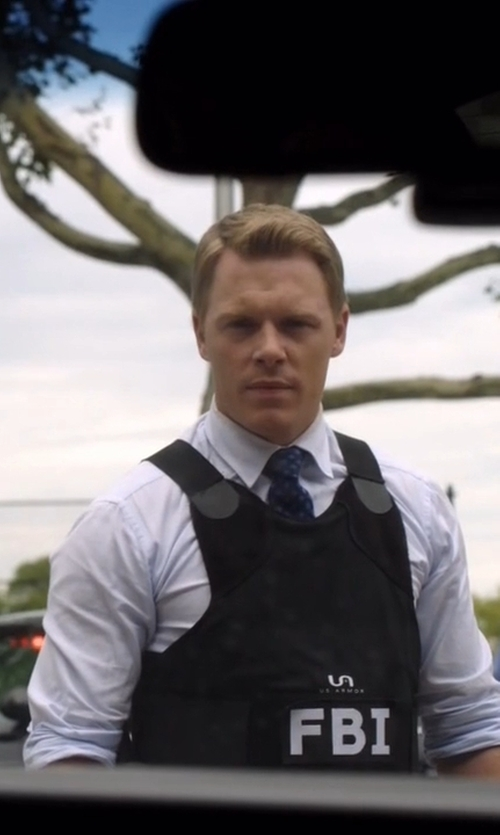 Diego Klattenhoff with Just Cavalli Regular-Fit Camica Cotton Dress Shirt in The Blacklist
