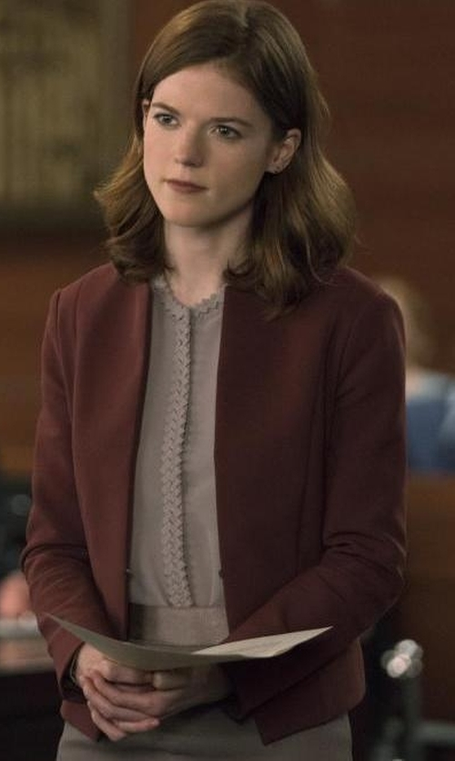 Rose Leslie with American Vintage Holiester Jacket in The Good Fight