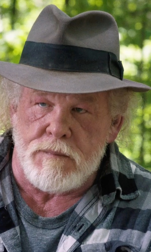 Nick Nolte with Brooks Brothers C-Crown Fedora Hat in A Walk in the Woods