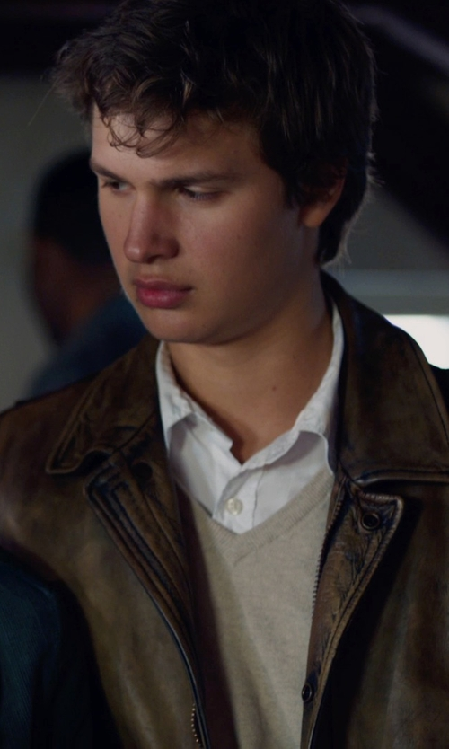 Ansel Elgort with English Laundry Trim Fit Dress Shirt in The Fault In Our Stars