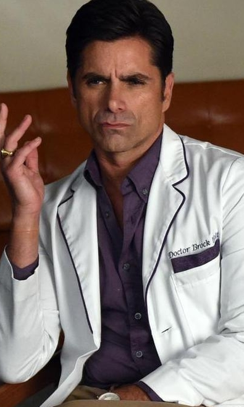 John Stamos with ATM Anthony Thomas Melillo Classic Button-Down Shirt in Scream Queens