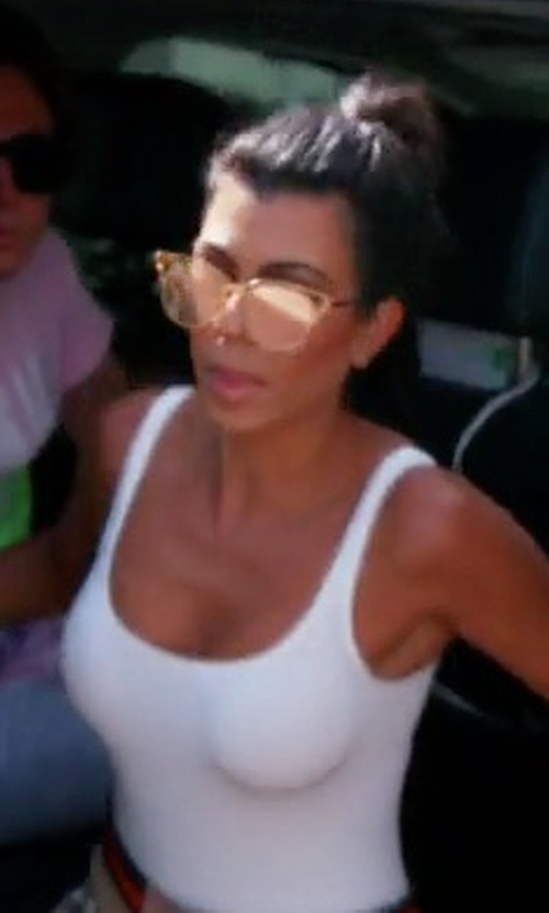 Kourtney Kardashian with Dior Sideral Cat-Eye Sunglasses in Keeping Up With The Kardashians