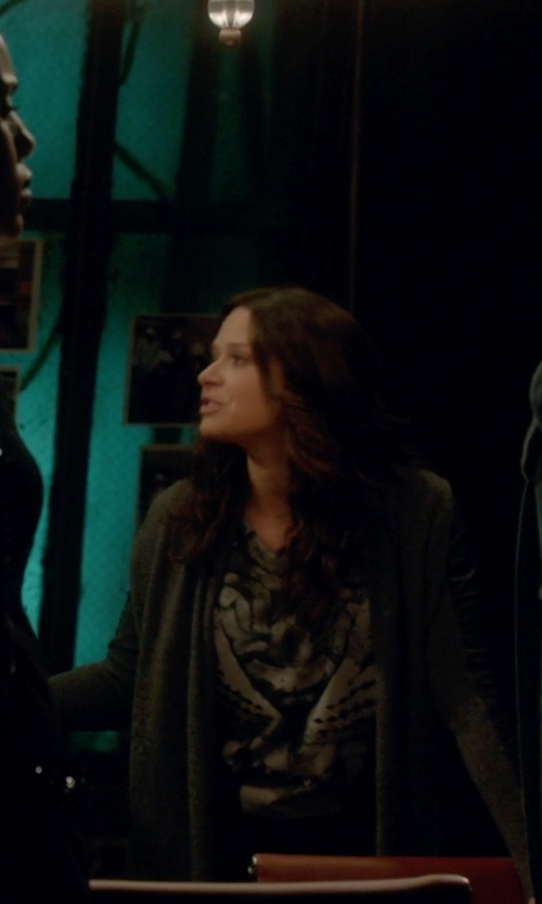 Katie Lowes with The Kooples Wool And Cashmere-Blend Cardigan in Scandal