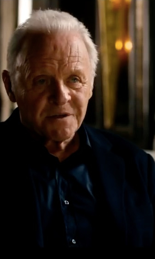 Anthony Hopkins with Hugo Boss Arleto Textured Weave Virgin Wool Blazer in Collide